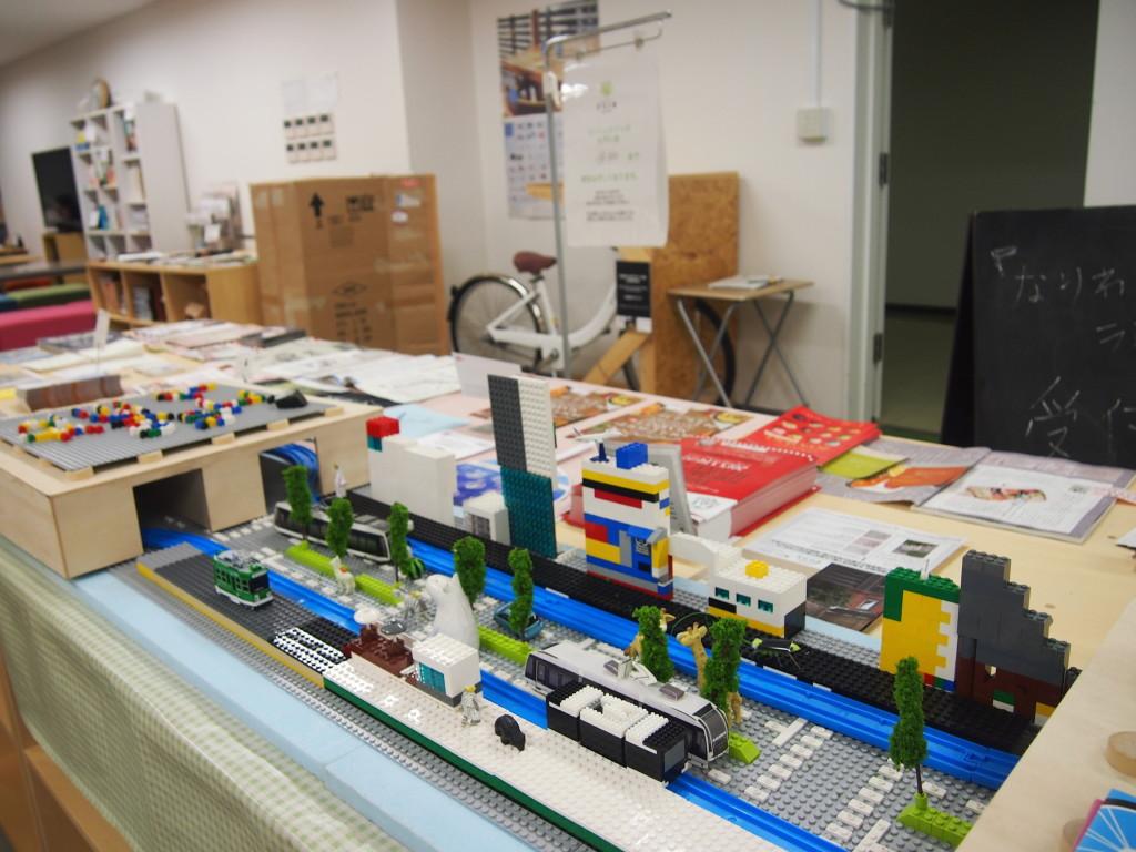 市電が走る札幌の街レゴブロック