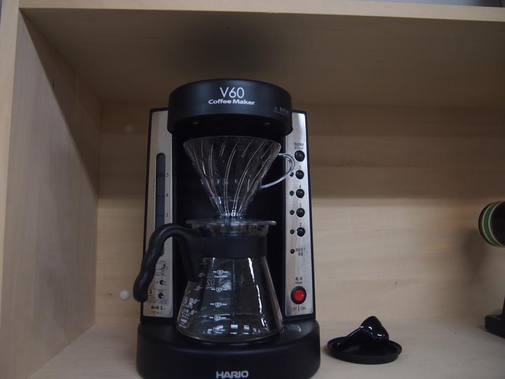 豆から挽いたコーヒを淹れられる