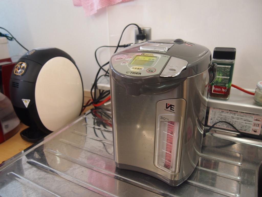 給湯器でミルクも作れる