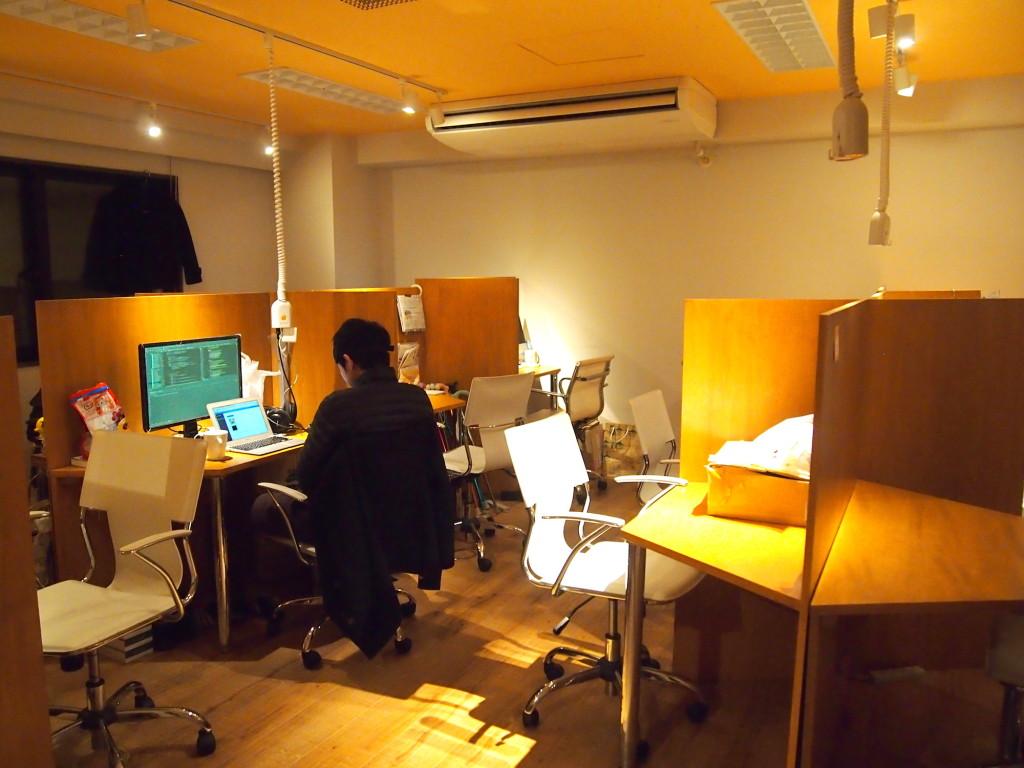 ものづくりスタジオは落ち着いた雰囲気