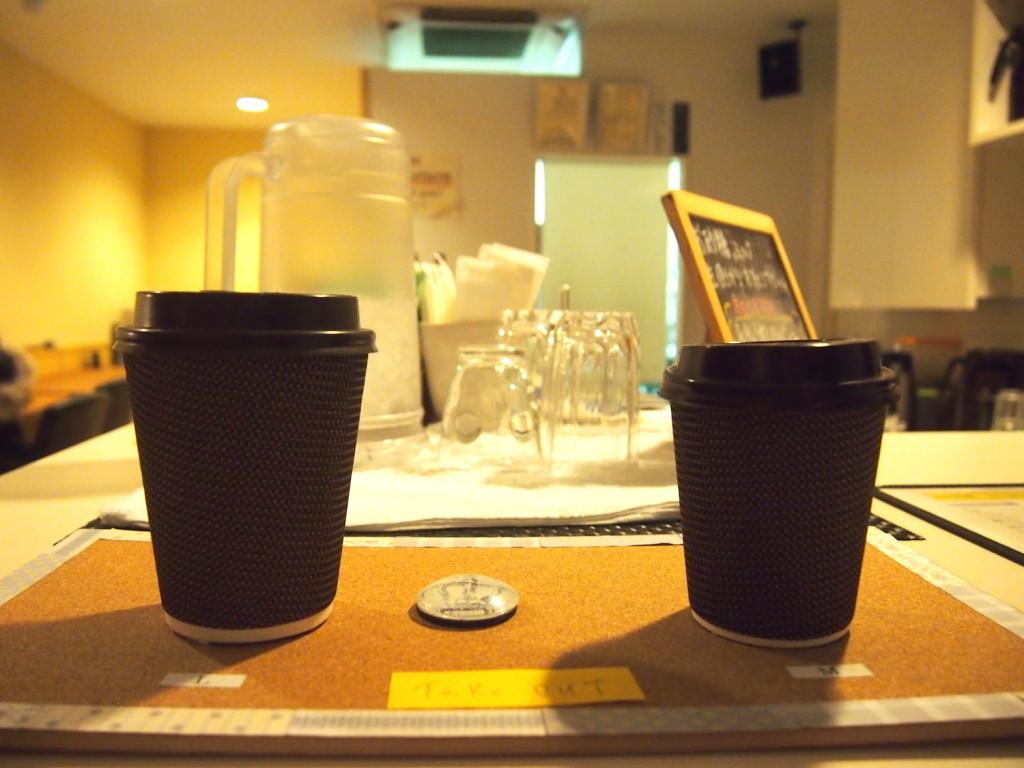 コーヒーのテイクアウトサービスも実施