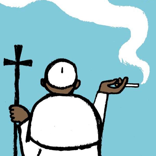 smoking-pope