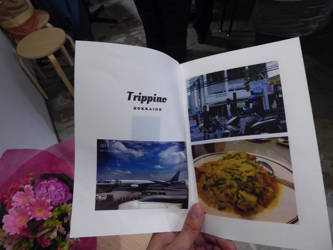 Trippino HOKKAIDOに関する写真が収められた冊子が配布
