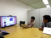 Developers.IOについて語るAWSコンサルティング事業部ソリューションアーキテクトの佐々木大輔さんと、iPhoneアプリサービス事業部アプリケーションエンジニアの小室啓さん