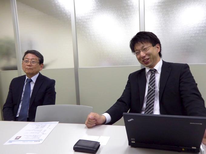 株式会社ウイン・コンサル代表取締役、森谷洋さんと、セールスフォース・ドットコム事業部、部長の嘉屋雄大さん