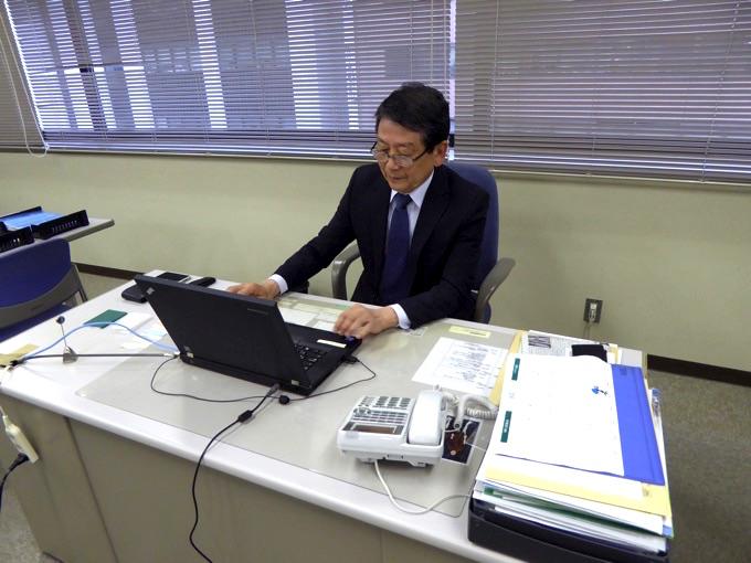 株式会社ウイン・コンサル代表取締役 森谷洋さんの仕事風景