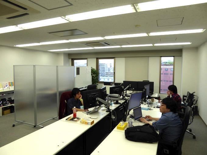 キロル社。オフィスの開発現場の風景