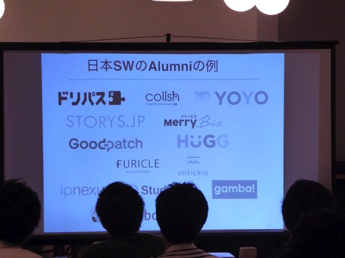 日本のSWのAlumniの例