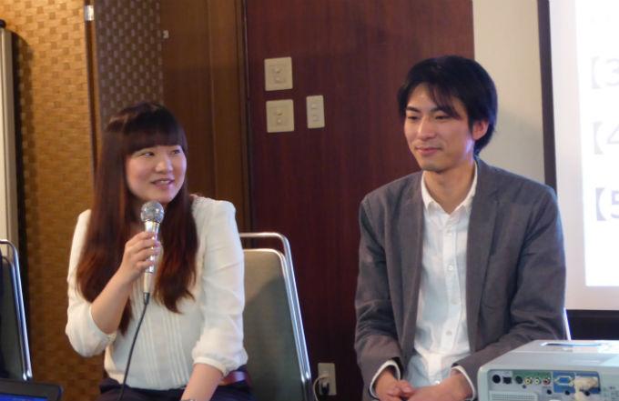 創業のきっかけを話す株式会社ときめきサプリ代表取締役の岩館空さん(写真左)