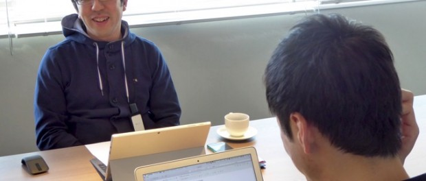 前田章博社長へのインタビューは和やかに行われました