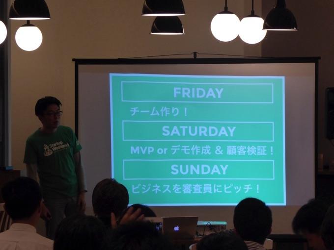 Startup Weekend、3日間のスケジュールの説明