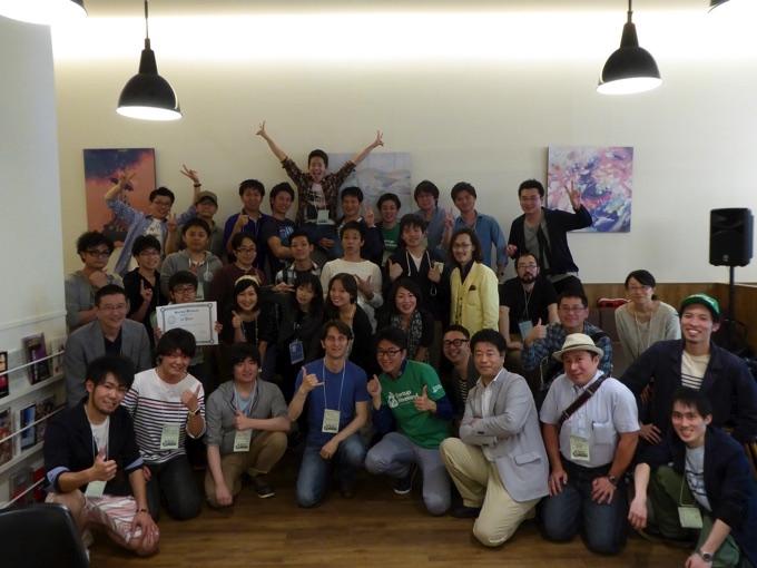 Startup Weekend Sapporo Vol.4懇親会での記念撮影