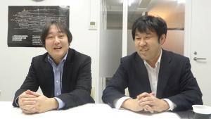 写真左、菊池敏幸社長。写真右、清水宣幸取締役