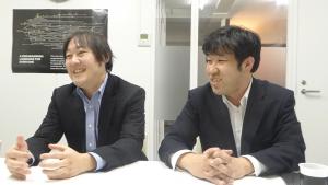 サポートについて語る写真左、菊池敏幸社長。写真右、清水宣幸取締役