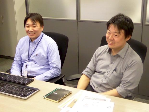 株式会社テクノフェイス代表取締役の石田崇さん(写真右)、ソリューションテクノロジ事業部事業部長代理の小林隆行さん(写真左)