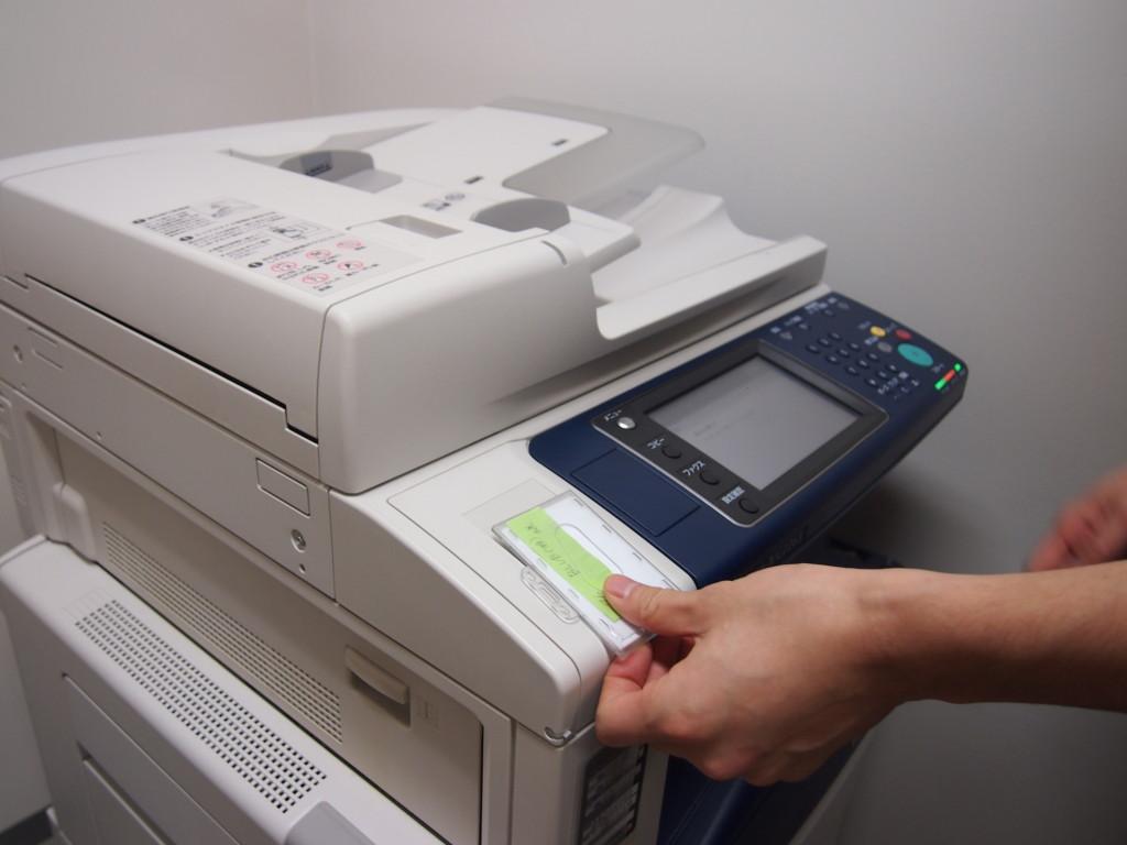 コピー機、プリンター、スキャナー、FAX完備