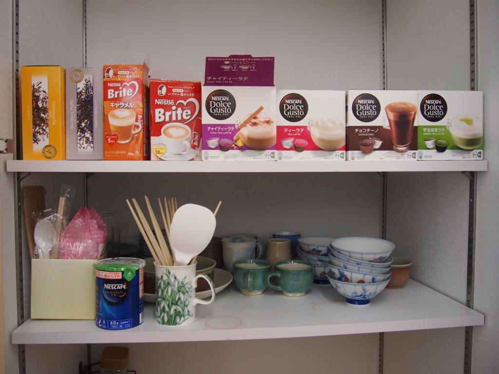 紅茶、コーヒー、お茶など嬉しいサービス