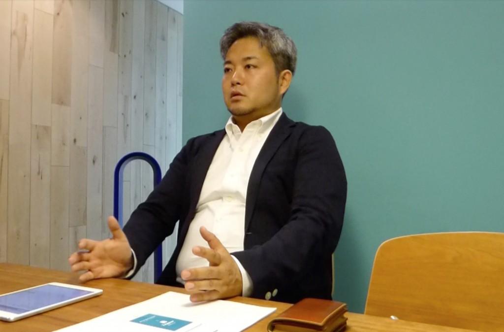 インタビューにこたえてくださる株式会社Gear8代表取締役水野社長