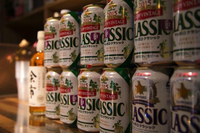 たくさんのサッポロクラシックビール