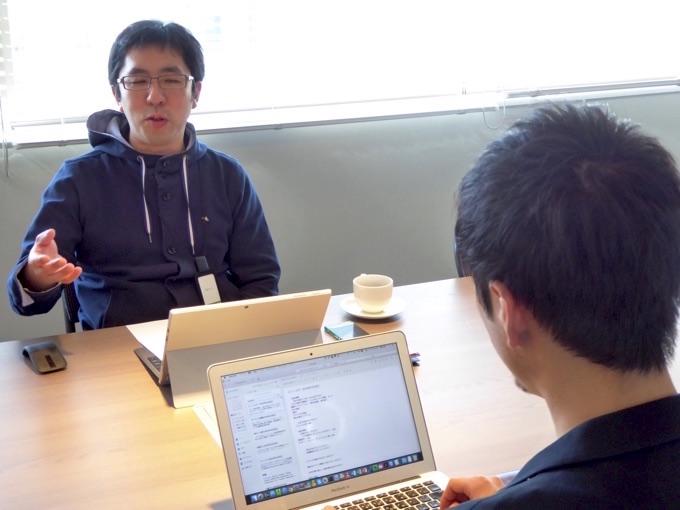 前田章博社長へのインタビュー風景