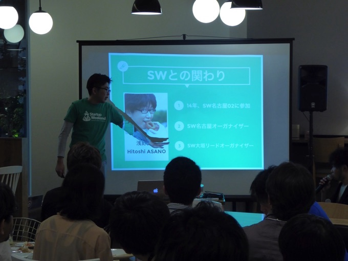 浅野仁志さんのStartup Weekendの関わり
