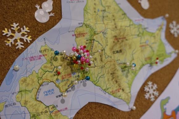 やはり札幌中心に多くの針が刺さっています
