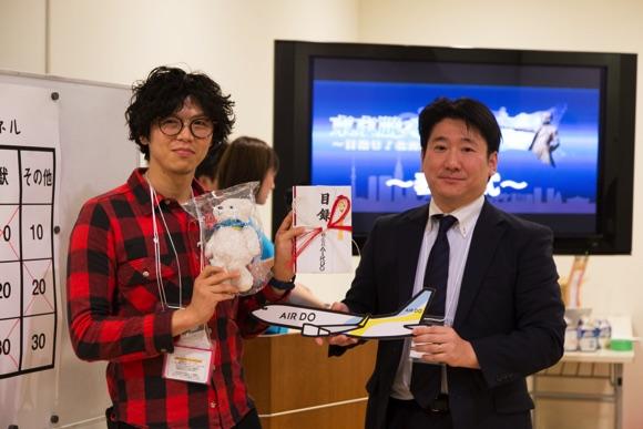 株式会社AIRDOさんより、東京(羽田)- 札幌(新千歳)往復航空券が渡されます!