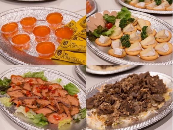合同懇親会の料理