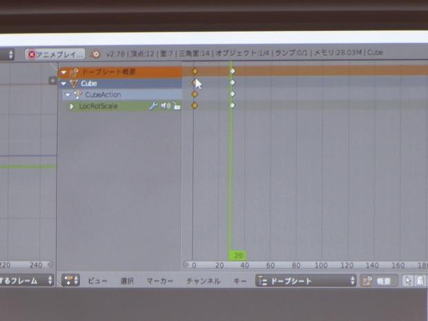 実際に3Dアニメーションを作るタイムラインを紹介