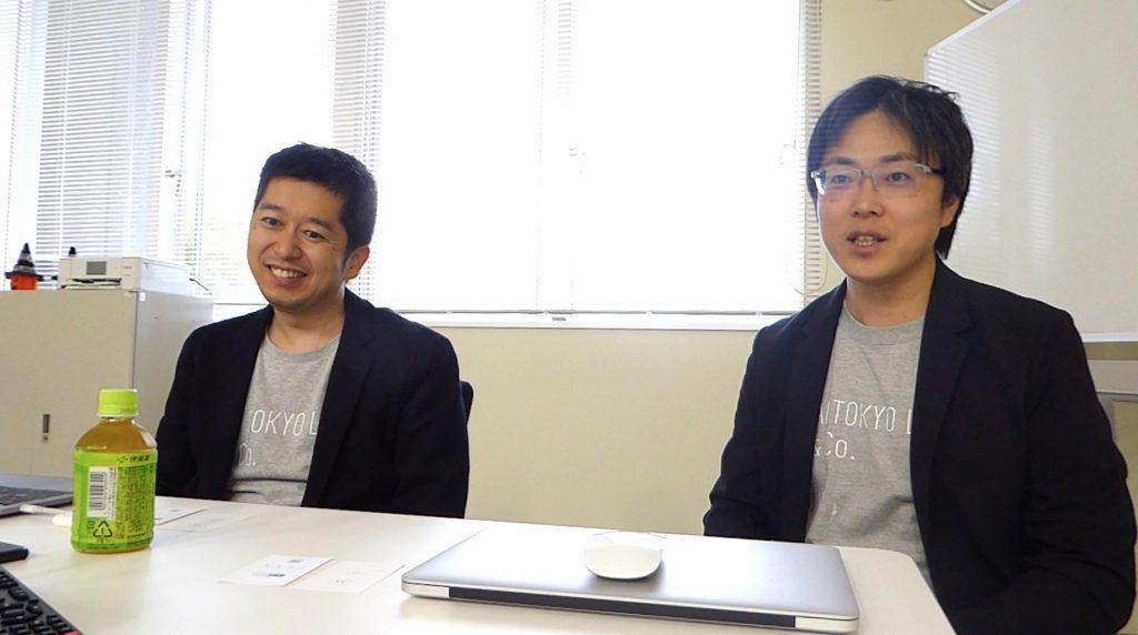 インタビューに応える(写真左)AI TOKYO LAB株式会社、代表取締役社長の北出宗治さん(写真右)AI HOKKAIDO LABの所長の土田安紘さん