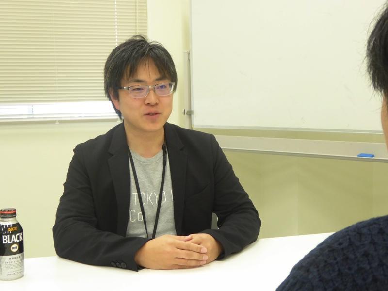 インタビューに応えるAI HOKKAIDO LAB所長の土田安紘さん