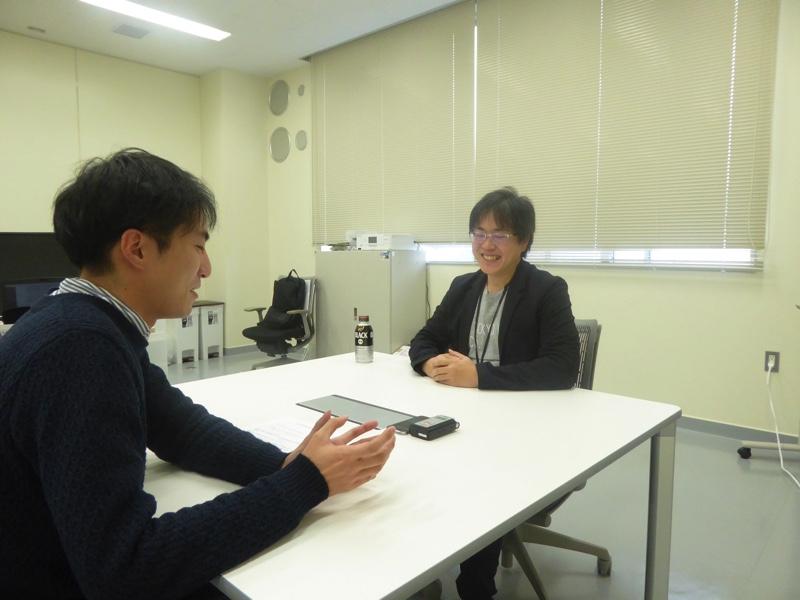 インタビュワーとAI HOKKAIDO LAB所長の土田安紘さん