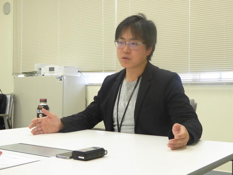 AI HOKKAIDO LAB所長の土田安紘さん(左向き)
