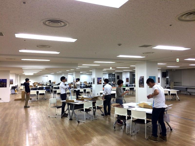 準備中の写真。JOB HUB SQUARE 12階ホールA