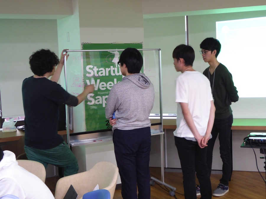 【2日目】Startup Weekend Sapporo Vol.5。朝食、コーチタイム、会場の風景、夕食 #swsapporo