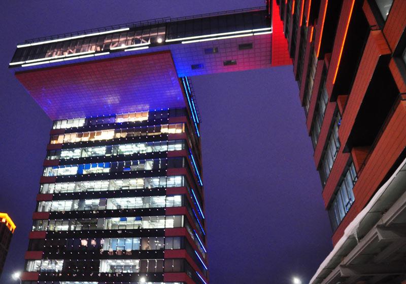 テクノパーク建物夜景