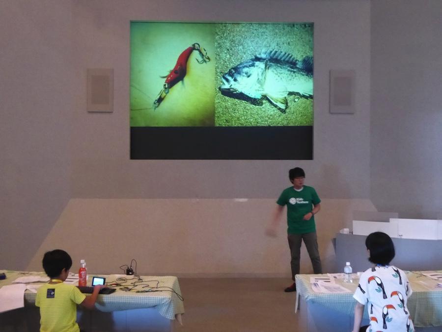 釣りが趣味な船戸さんは先週、IchigoJamを使って釣りを行ったようです