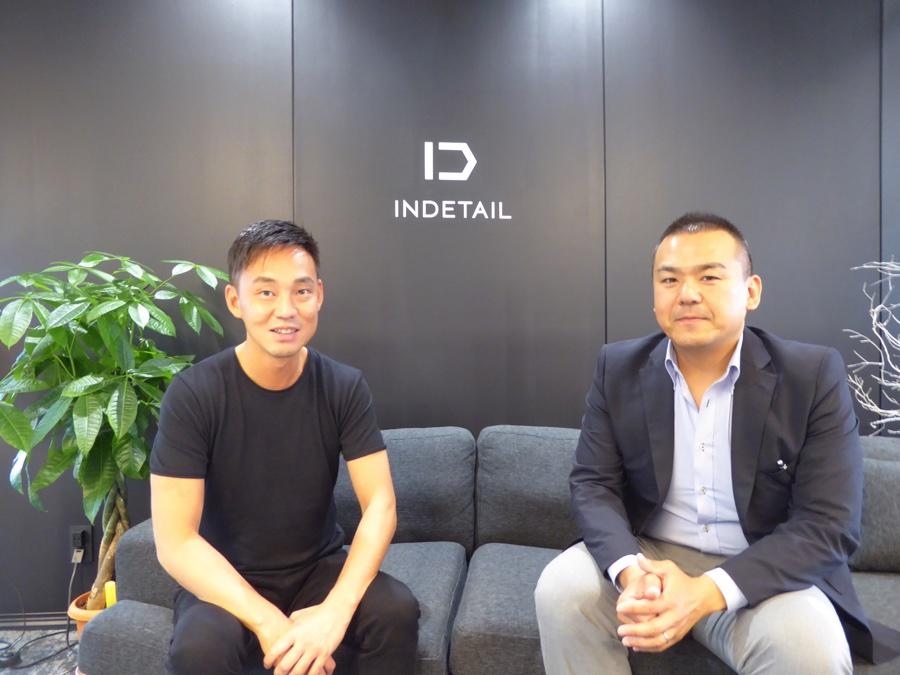 株式会社INDETAIL代表取締役CEOの坪井大輔さんとプロジェクトリーダーの定居美徳さんの正面写真