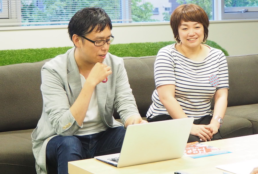 NoMapsの実行委員会委員長の廣瀬さんと広報の山岸さん