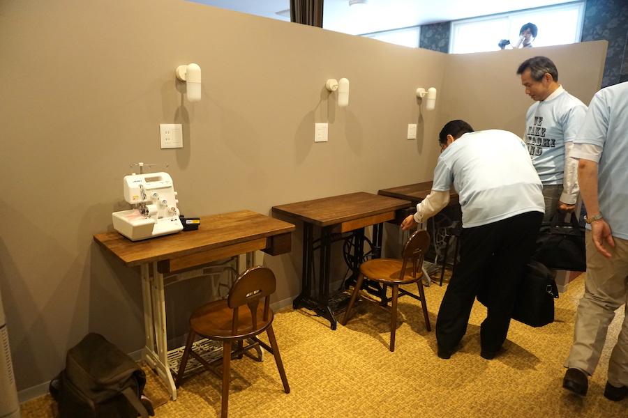 帯広市の事業創発拠点「とかちのやりたい実現カフェ LAND(ランド)」のミシンブース