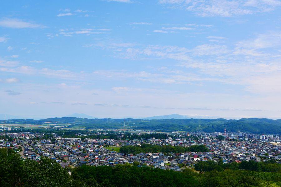 丘の上からみた北見市