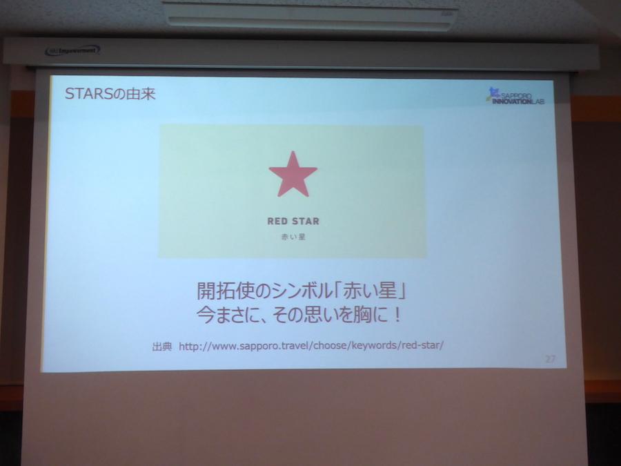 開拓使のシンボルが赤い星