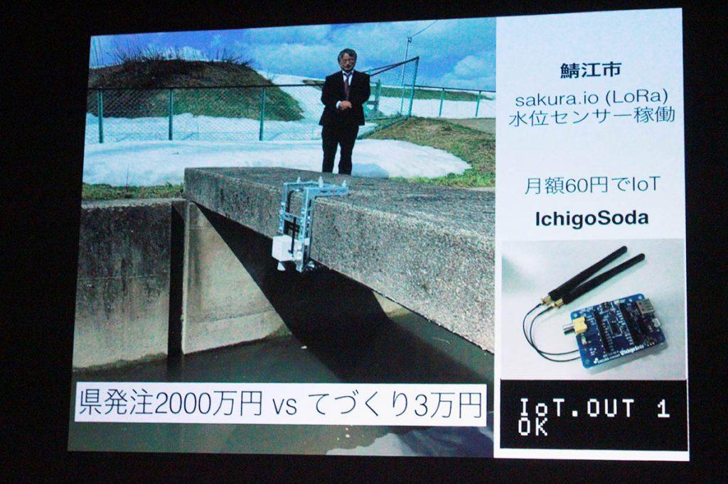 鯖江市水位センサー