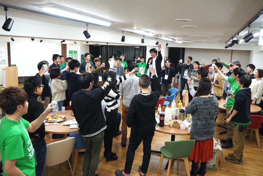 Startup Weekend Sapporo Vol.7(スタートアップ ウィークエンド サッポロ)の懇親会の様子